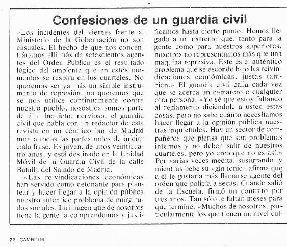 confesiones de un guardia civil